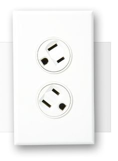 Rotating outlet.  You can now plug in and turn to make space for a second oversize plug in the same outlet.