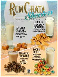 @Katy Smith, these RumChata shooters are for you....