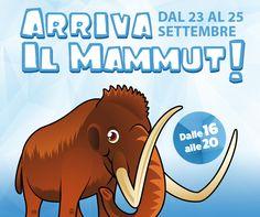 Dal 23 al 25 settembre arriva il mammut al #cctorvergata. Un'incredibile avventura per tutti i bambini. Partecipa anche tu al divertente laboratorio che ti farà scoprire i fossili sotto la guida di esperti.