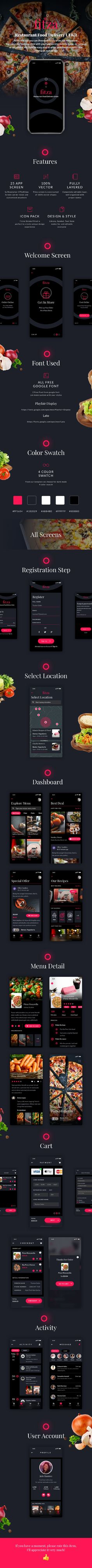 Fitza - Multipurpose Template for Restaurant Food Delivery Order by ayokerja