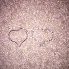 Heart earrings Heart hoop earrings Jewelry Earrings