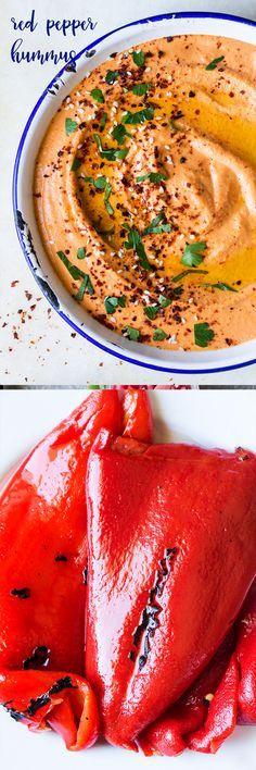 #vegan #redpepper #roastedpepper #smoky #hummus #chickpeas #aquafaba #healthy #oilfree #glutenfree #homemade #snack #mezze #spicy #easy
