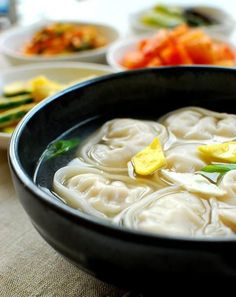 Mandujuk - yummy Korean soup I miss Korea so much! Their food was so yummy. I remember this being yummy at least. Haha.