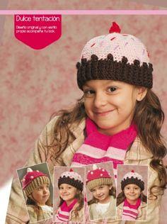 Gorro cupcake #crochet descarga el paso a paso en www.eviadigital.com #patron #ficha