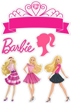 Bolo Barbie, Barbie Cake, Barbie Dolls, Barbie Theme Party, Barbie Birthday, Imagenes Free, Frozen Party Invitations, Lol Doll Cake, Barbie Cartoon