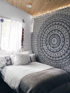 Elephant Throw Tapestry, Indian Mandala Wall Hanging, Bohemian Decor, Dorm  Room