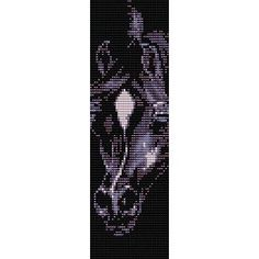 BLACK BEAUTY STALLION - LOOM beading pattern for cuff bracelet (buy any 2 patterns - get 3rd FREE)
