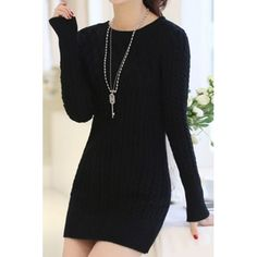 Long Sleeves Solid Color Sweater Stylish Dress For Women pink black blue white (Long Sleeves Solid Color Sweater Stylish Dress For Wo) by http://www.irockbags.com/long-sleeves-solid-color-sweater-stylish-dress-for-women-pink-black-blue-white