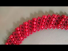 Beautiful beaded necklace. DIY. Колье из бисера и бусин # Бисерная сетка - YouTube