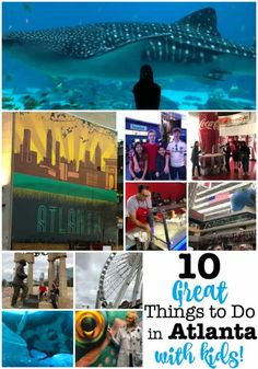 Atlanta is a great city to visit with your family! There are so many fantastic things to see and things to do in Atlanta with kids- from the aquarium to a TV studio tour, to the best tasting ice cream and other sweet treats! Check out our 10 favorites! Camping With Kids, Travel With Kids, Family Travel, Stuff To Do, Things To Do, Good Things, Great Places, Places To Go, Family Road Trips