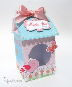 Maria Valentina, Birthday Bag, Bird Party, Baby Shawer, Candy Boxes, Little Boxes, Baby Cards, Scrapbook, Decorative Boxes