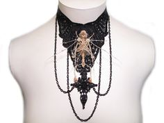 WOW! This is a fucking amazing necklace! Gothic Jewelry Bat Skeleton Gothic Lolita Goth by bonejewelry, $129.99