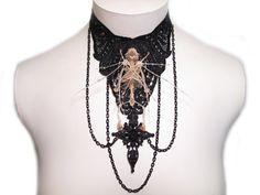 Gothic Jewelry Bat Skeleton Gothic Lolita Goth by bonejewelry, $119.99