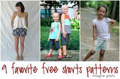 shorts on the line: nine favorite free shorts patterns