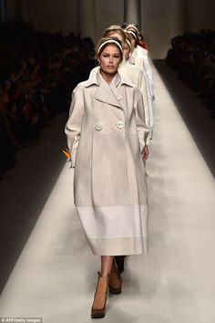 Doutzen was chosen by Karl Lagerfeld to lead the models down the Fendi Fall 2015 runway