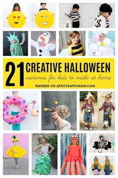 21 Creative And Easy Last Minute Halloween Costumes for kids that are both creative and easy and you can pull off in less than one hour. Minions bandits dolls and Cute Kids Halloween Costumes, Homemade Halloween Costumes, Toddler Costumes, Diy Costumes, Costume Ideas, Adult Halloween, Couple Costumes, Couple Halloween, Group Costumes