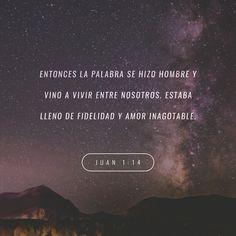 """""""Y aquel #Verbo fue hecho carne, y habitó entre nosotros (y vimos su #gloria, gloria como del unigénito del #Padre), lleno de #gracia y de #verdad."""" #S.Juan 1:14 RVR1960 http://bible.com/149/jhn.1.14.rvr1960"""