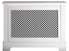 Georgian Radiator Cover - Small Satin White Radiator Cabinet - powder room