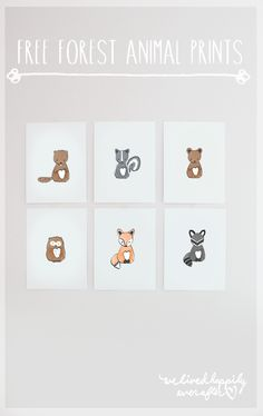 These foxy prints are perfect for future animal lovers (and they're a free printable!)