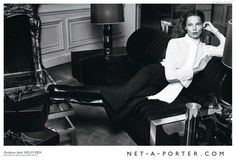 Daria Werbowy Lounges in Net a Porters Fall 2014 Campaign