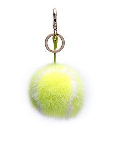 Anya Hindmarch Yellow Mink Tennis Ball Charm