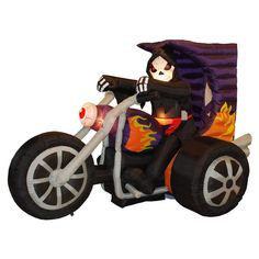 Found it at Wayfair - Halloween Inflatable Skeleton on Motorcycle Decoration