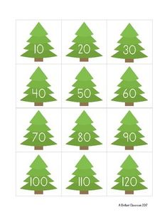 Free skip-count by 10 Christmas activity! Sort the cards. Includes a shaded 100 chart to help students who need additional support.   Great for Kindergarten and grade 1.  Free Christmas Math Center