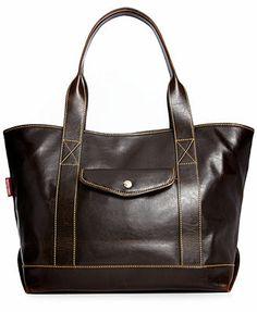 Dooney & Bourke Handbag, Smooth Leather Large Pocket Shopper