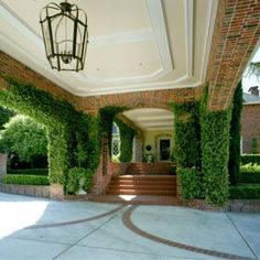 Porte Cochere with clinging ivy