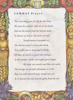 ☽✪☾ Sabbats and Esbats - Lammas Prayer Wiccan Sabbats, Wicca Witchcraft, Magick, Mabon, Samhain, Beltane, Kitchen Witch, Coven, Back To Nature