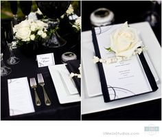 Black and white wedding decor - www.umeusstudios.com