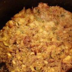 Slow Cooker Dressing Moist Stuffing Recipe, Crockpot Stuffing, Crock Pot Bread, Crock Pot Cooking, Crockpot Chicken And Dressing, Chicken Dressing, Cooker Recipes, Crockpot Recipes, Chicken Recipes