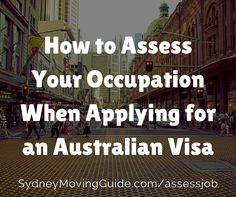 How to assess occupational work experience correctly when applying for sponsorship for Australia or a skilled work visa like a PR 189 subclass visa.