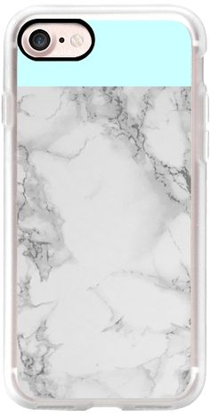 Casetify iPhone 7 Classic Grip Case - Aqua Marble Color Block by Jande Laulu #Casetify