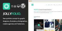 Jollyfolio - Creative Responsive WordPress Theme by JollyThemes   Jollyfolio is a new trendy portfolio concept for creative agencies, freelancers, graphic designers, illustrators, photographers