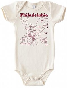 Maptote - Philly baby one piece