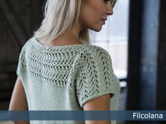 Mojito by Dorte Steen Nielsen. Free Knitting Patterns For Women, Knit Patterns, Crochet Shirt, Knit Crochet, Quick Knits, Summer Knitting, Mojito, Top Pattern, Pulls