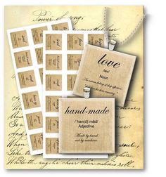 626 - Love-Hope-Believe - Word Definition 1 inch square - Digital Collage Sheet - Vintage Papers - Digital collage sheets, Vintage Clipart, Printables, Scrapbooking supplies