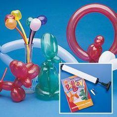 Carnival Game Ideas ~ Animal balloons ***ALSO can do a balloon stomp. Blow up balloons with numbers in them. Player picks a balloon and stomps on it. They then get a prize coordinating with their number :)