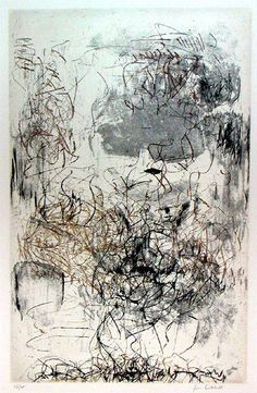 "Artist: Joan Mitchell, Sunflower Etchings 1972 #""abstractartists"""