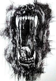 Canid Heart: Im Maul des Wolfes - Tattoos Designs Dark Art Drawings, Tattoo Design Drawings, Tattoo Sketches, Animal Drawings, Art Sketches, Tattoo Designs, Wolf Tattoos, Werewolf Art, Werewolf Symbol