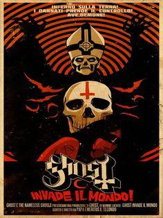 Ghost - Invade Il Mundo - Mini Print