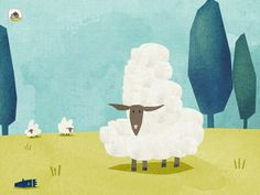 What to do with a woolen sheep and a wool trimmer?