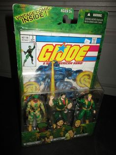GI JOE Comic pack 3 Action figures Sgt.Stalker,Double Clutch,General Abern *NEW* #Unbranded