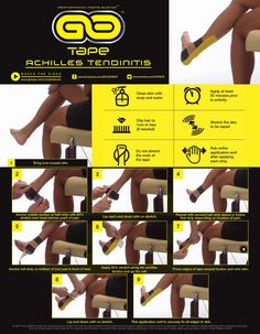 Simple kinesiology tapeing instructions for achilles tendinitis