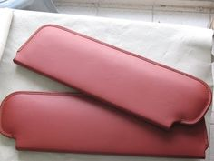LEATHER UPHOLSTERY-Leather-Wrapping a pair of Sunvisors and an Instrument Panel…
