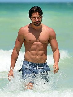 HOTTEST BODIES 2013: True Blood's hard-bodied hunk Joe Manganiello turns exiting the water into an art form while sunning himself in South Beach. http://www.people.com/people/package/gallery/0,,20391967_20699252,00.html#21322950