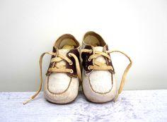 Leather Baby Shoes - Vintage Saddle Shoes, via Etsy.