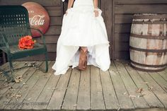 my wedding cowgirl boots =)