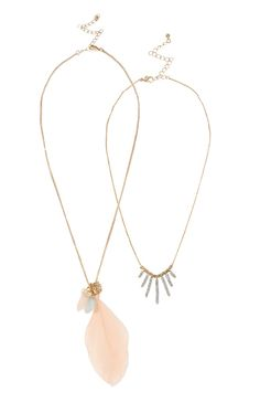 Primark - 2 Pack Feather Necklace